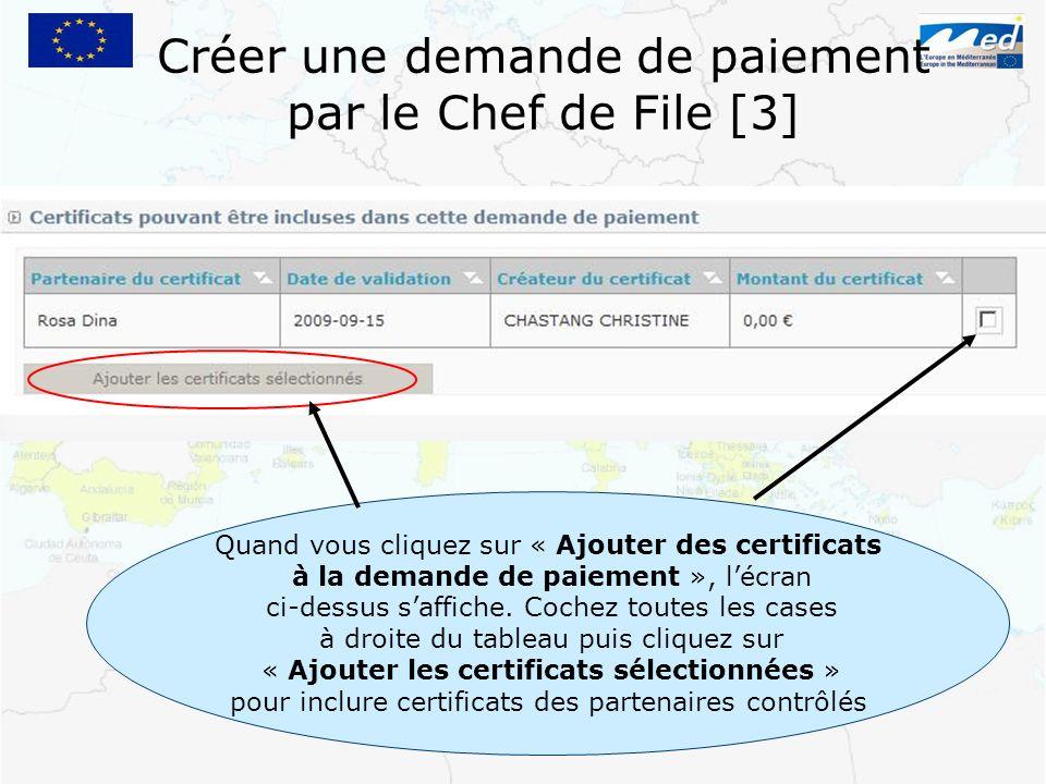 Créer une demande de paiement par le Chef de File [3]